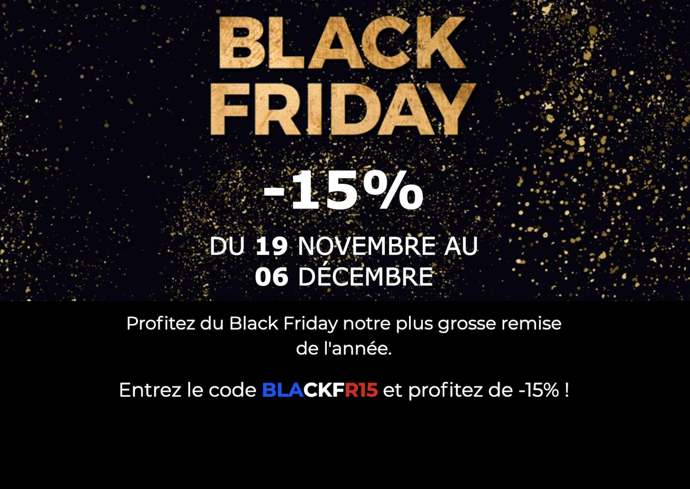 BLACK FRIDAY -15%